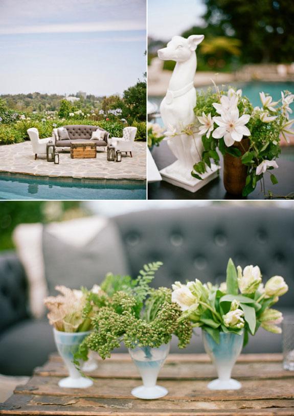 Białe kwiaty do dekracji wesela