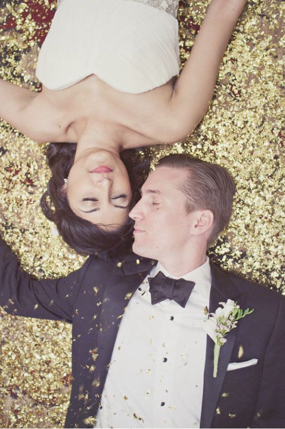 Ślub z Brokatem i w Złotych Kolorach