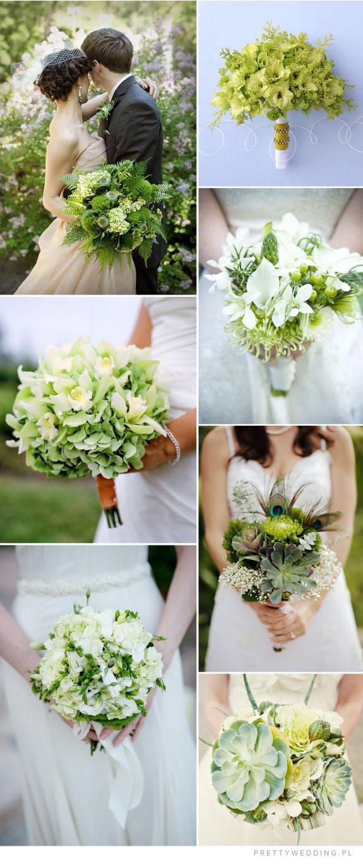 Pretty Wedding Zielone bukiety ślubne
