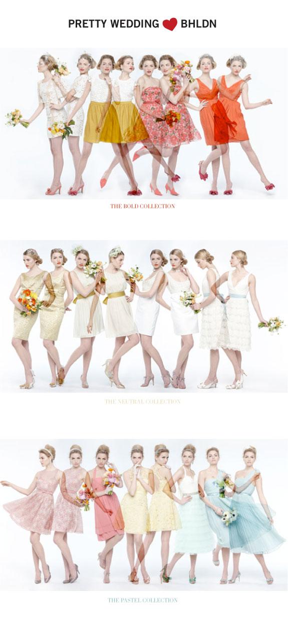 Kolorowe suknie dla druhen