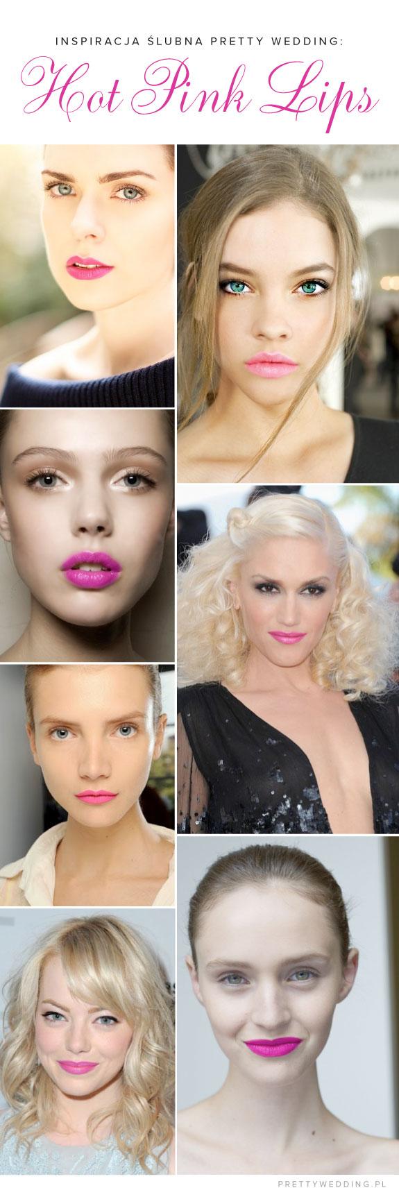 Inspiracje Ślubne: Szminka Hot Pink Lips