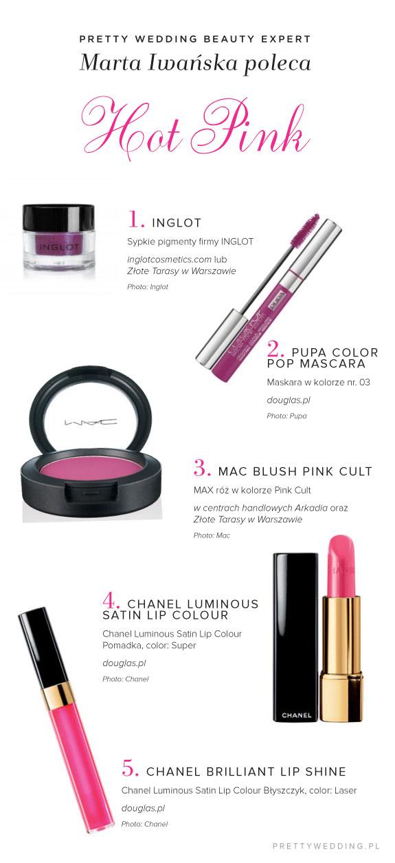 Kosmetyki do wiosenno letniej kolorystyki, Hot Pink