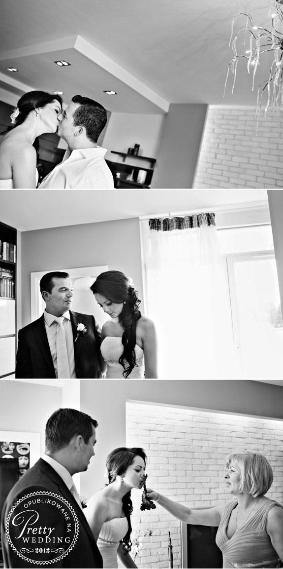 Czarno białe zdjęcia z przygotowań do ślubu