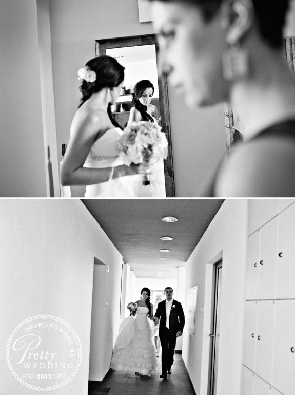 Para Młoda w drodze na ślub