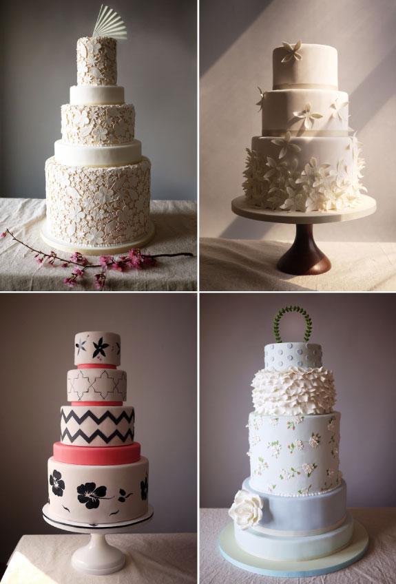 Wielopoziomowe torty ślubne