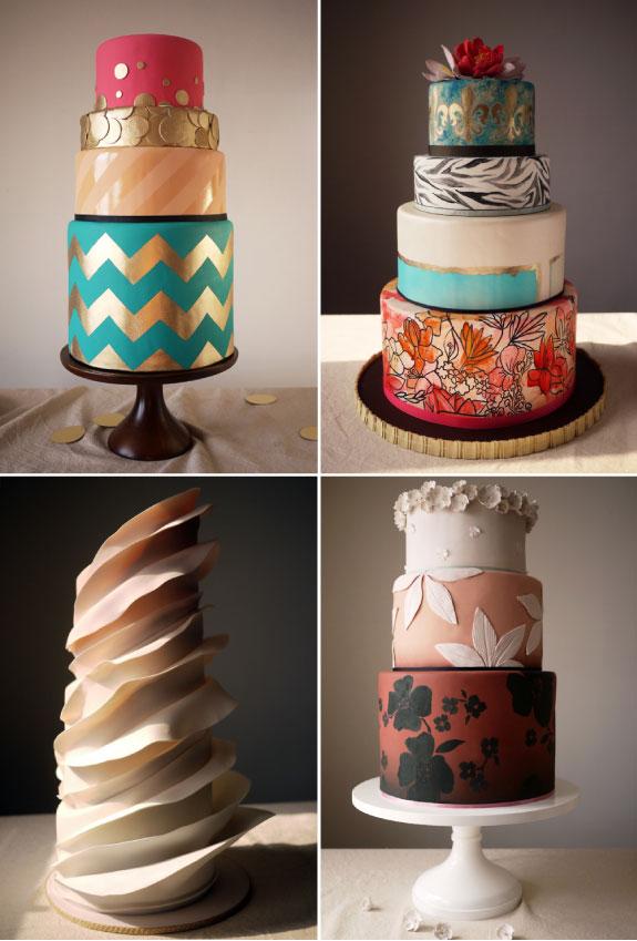 Najpiękniejsze torty weselne, zdobione i kolorowe torty weselen