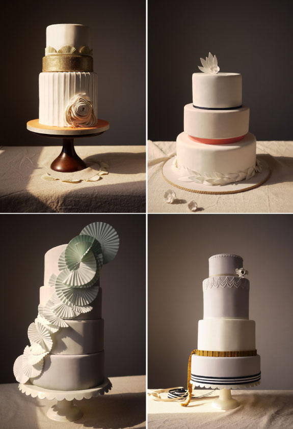 Pietrowe torty w pastelowych kolorach, nowoczesne i pięknie zdobione