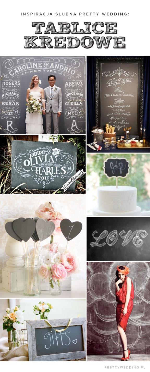 Tablice kredowe - inspiracje na ślub i wesele