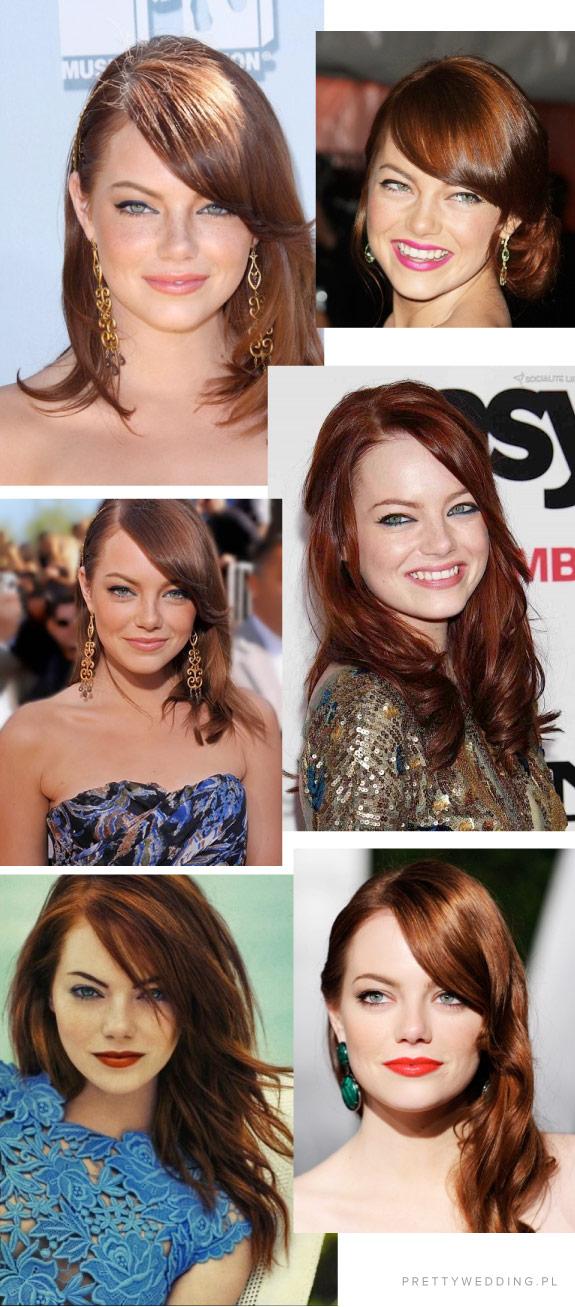 Kolory włosów Emmy Stone
