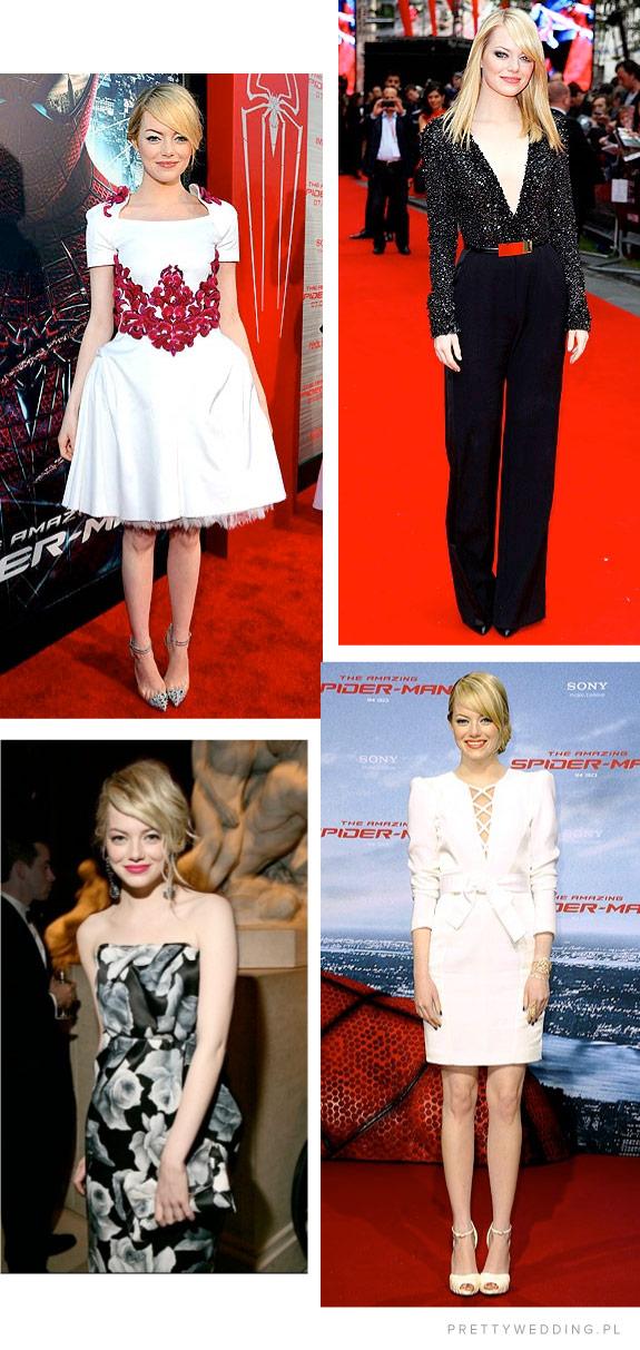 Przykłady kolorów włosów aktorki Emmy Stone