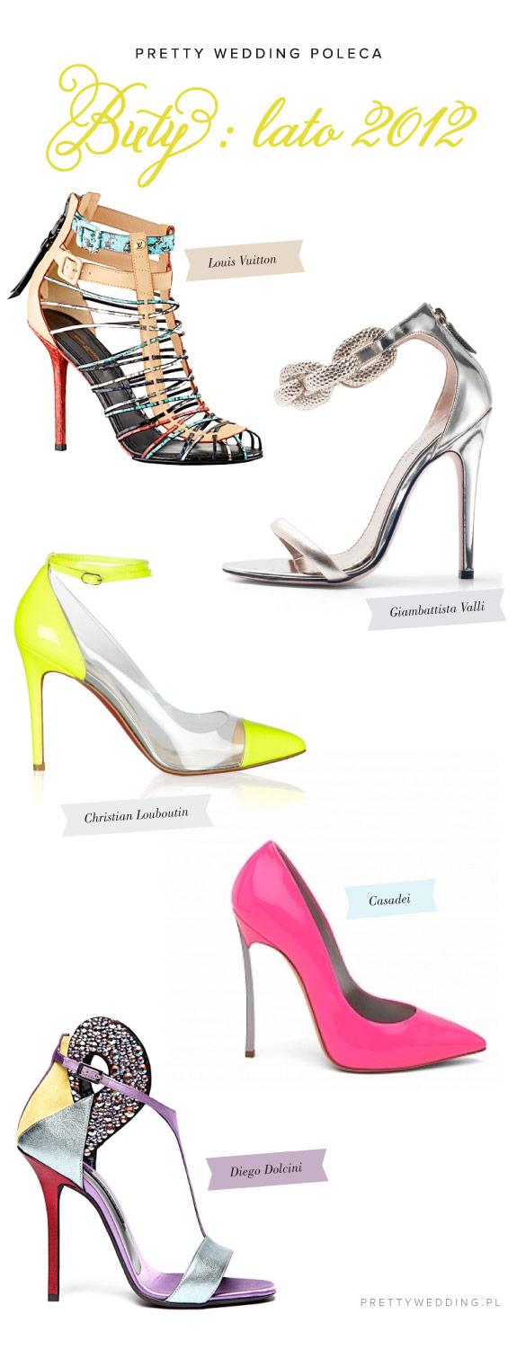Buty na ślub latem 2012, kolorowe sandałki
