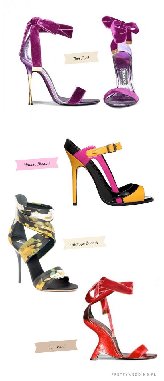 Aksamitne fioletowe sandałki Toma Forda