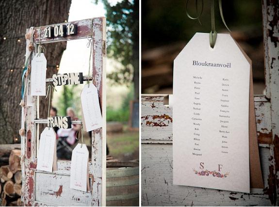 Tablice z usadzeniem gości weselnych