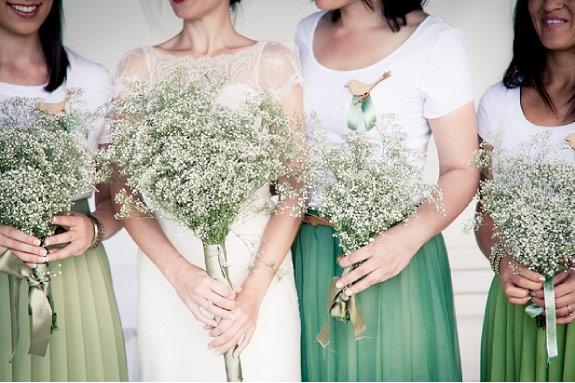 Inspiracje Ślubne: Bukiety z Gipsówki
