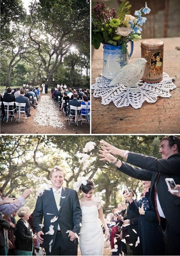 Ceremonia zaślubin w ogrodzie