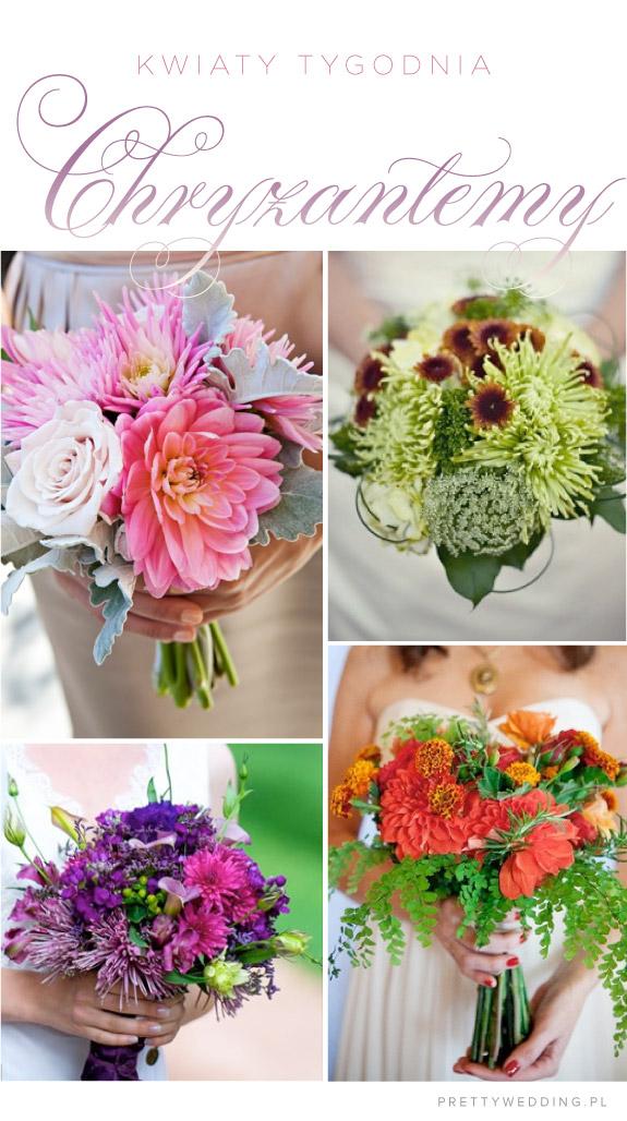 Kwiaty tygodnia: chryzantemy na jesieny ślub