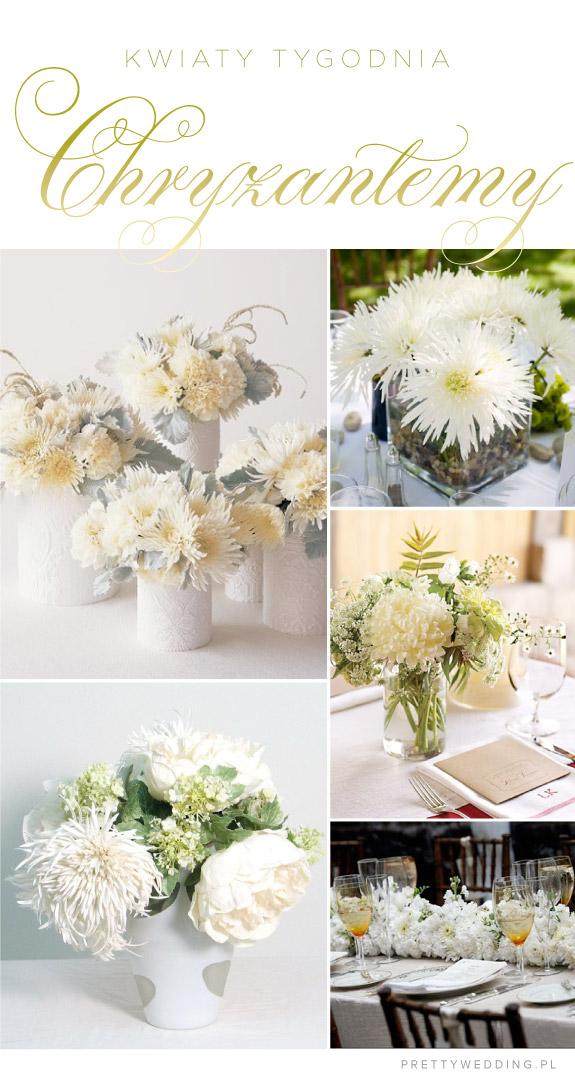 Kwiaty tygodnia: aranżacje stołów z chryzantem