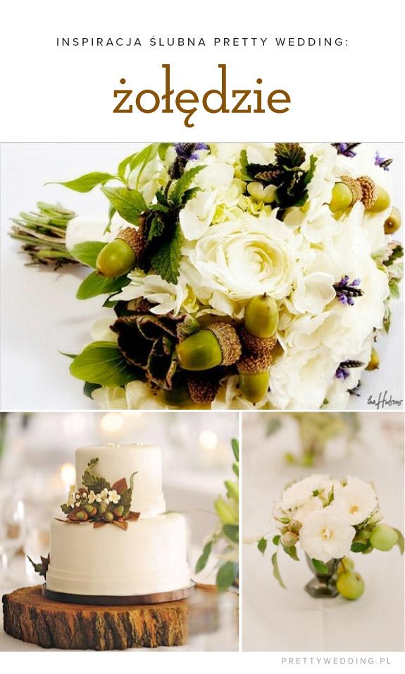 Jesienne inspiracje ślubne: dekoracje z żołędzi
