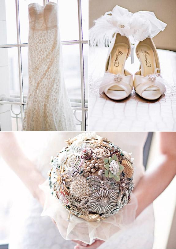 Suknia ślubna i buty w stylu Vintage