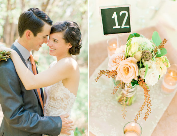 Kwiaty na stołach weselnych w pastelowych kolorach