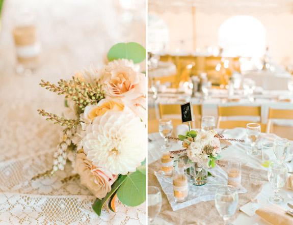 Dekoracje stołów w jesiennych kolorach