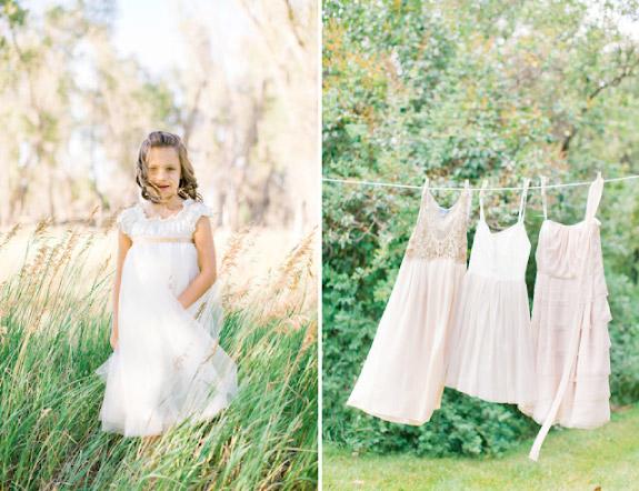 Mała druhna w białej sukience