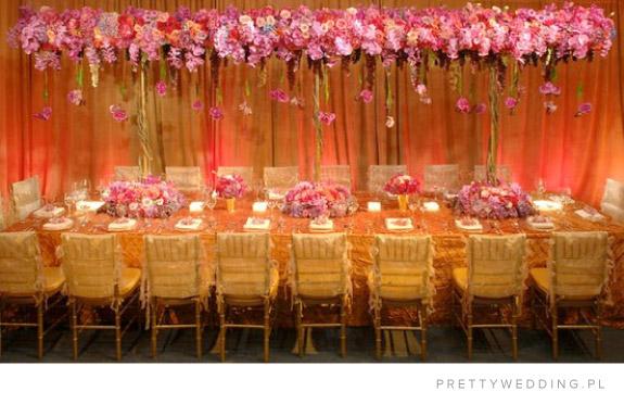 Pomysł na dekorację sali w kolorach różu