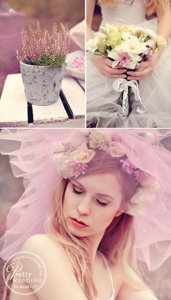 Jesienne kwiaty w stylizacji ślubnej