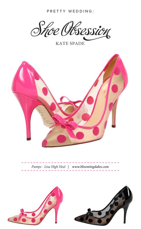 Różowe szpilki w kropeczki Kate Spade