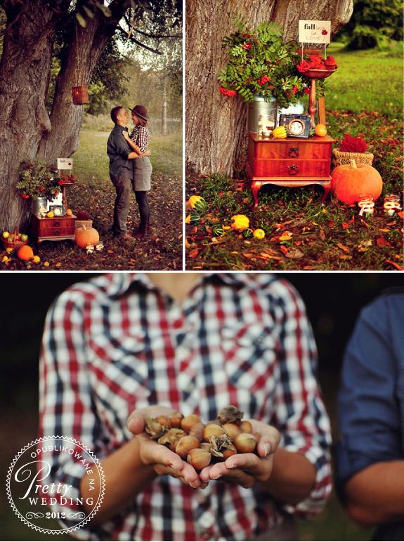 Sesja zdjęciowa jesienią z dyniami