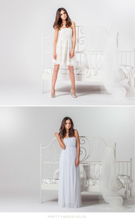 Krótka suknia ślubna Joanny Wodzińskiej
