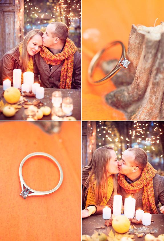 Pomarańczowe i złote kolory na stylizowanej sesji zdjęciowej