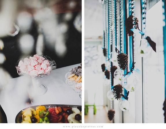 Zimowe dekoracje weselne