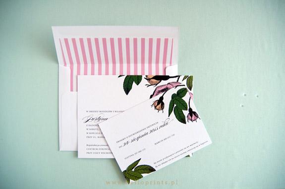 Zaproszenia ślubne z motywem róż
