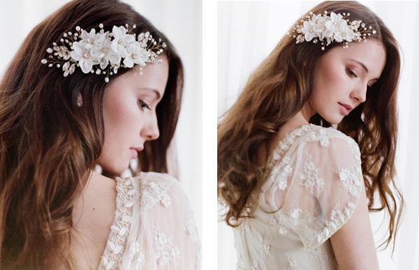 Kwiaty we włosach na weselu