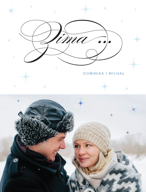 Sesja plenerowa zimą Dominiki i Michała