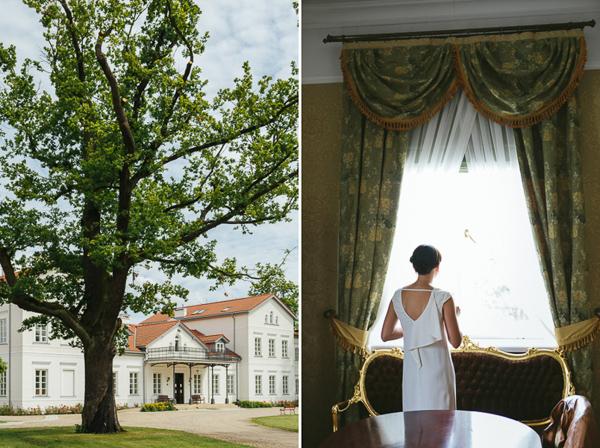 Ślub w plenerze w ogrodzie pałacu