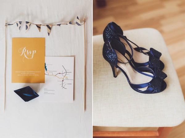 RSVP i mapka na zaproszeniu ślubnym
