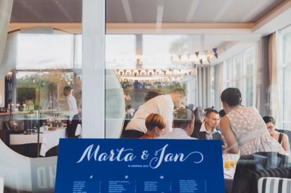 Granatowy table plan / tablica usadzenia gości