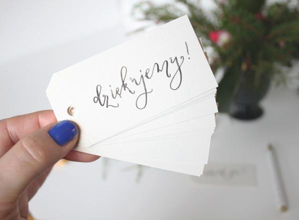 Gift Tags, zawieszki z napisem dziękujemy